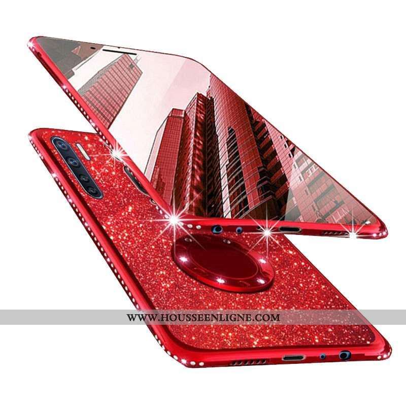 Étui Oppo A91 Transparent Personnalité Téléphone Portable Net Rouge Protection Rouge Tout Compris