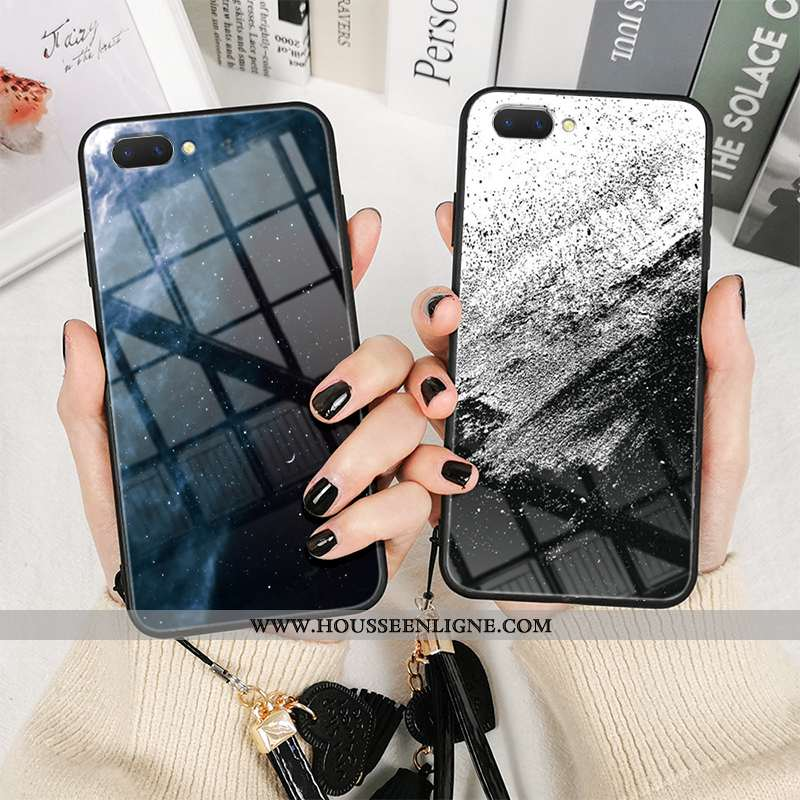Étui Oppo Ax5 Créatif Tendance Argent Incassable Net Rouge Nouveau Téléphone Portable Bleu