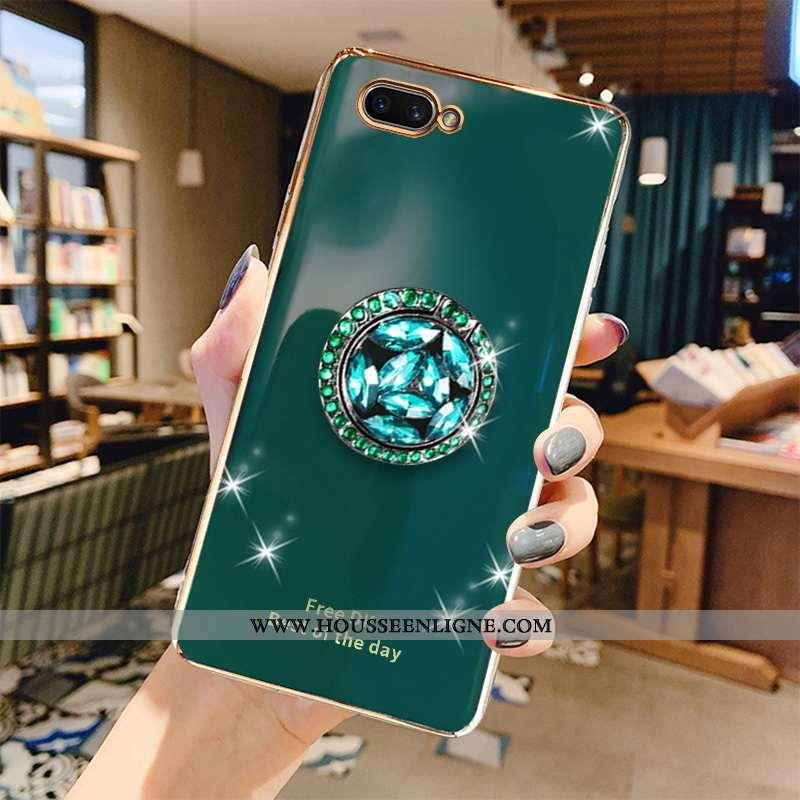 Étui Oppo Ax5 Dessin Animé Tendance Silicone Luxe Téléphone Portable Placage Tout Compris Verte