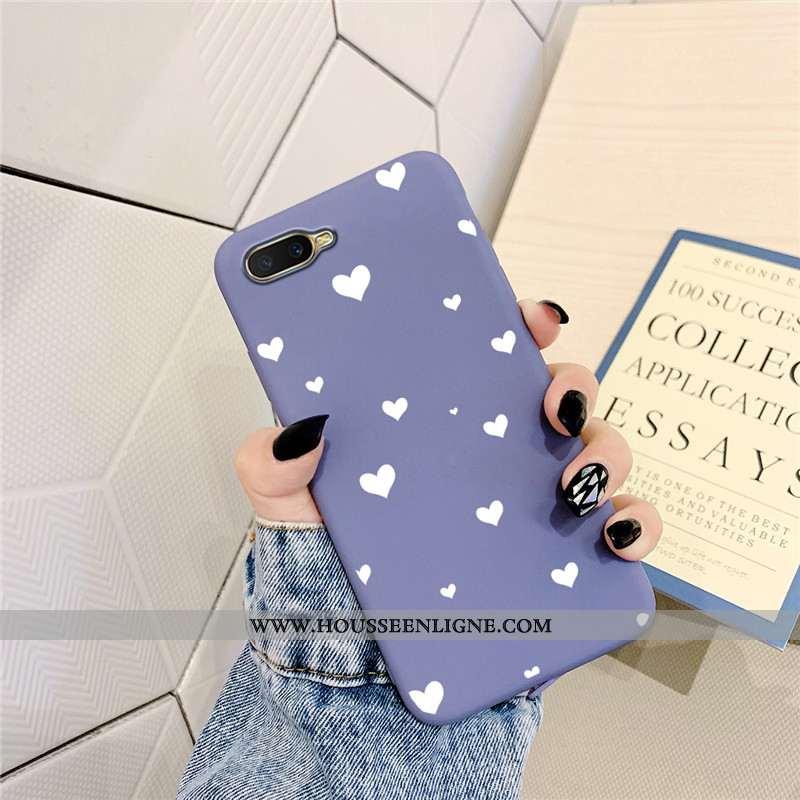 Étui Oppo Ax5 Silicone Protection Téléphone Portable Amour Violet Coque Simple