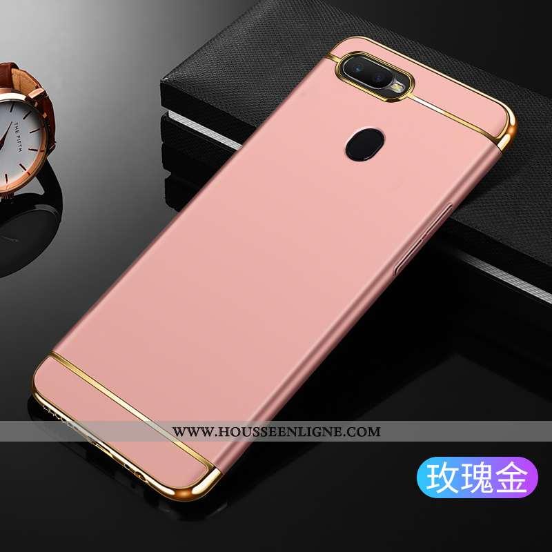 Étui Oppo Ax7 Délavé En Daim Coque Net Rouge Incassable Rose Téléphone Portable