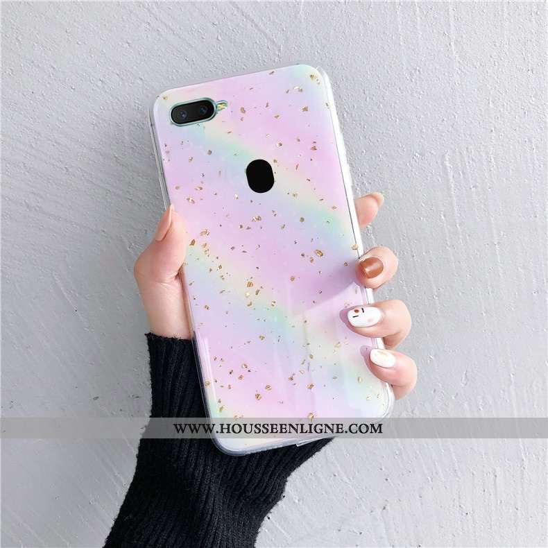 Étui Oppo Ax7 Personnalité Créatif Incassable Tendance Silicone Téléphone Portable Protection Violet