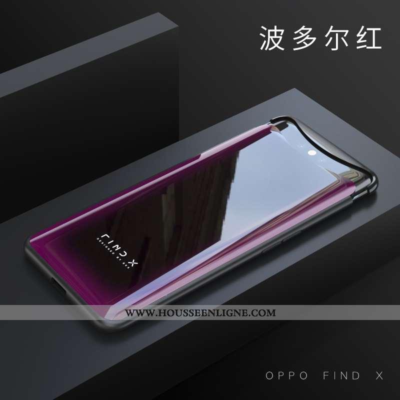 Étui Oppo Find X Protection Transparent Difficile Coque Violet Incassable