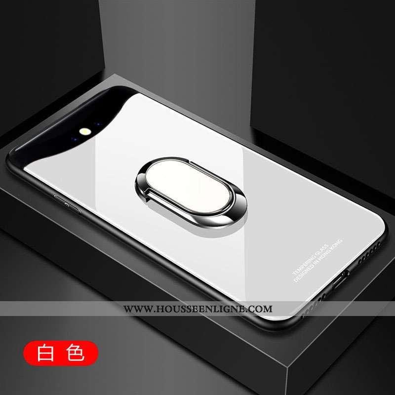 Étui Oppo Find X Protection Verre Téléphone Portable Difficile Simple Incassable Blanche