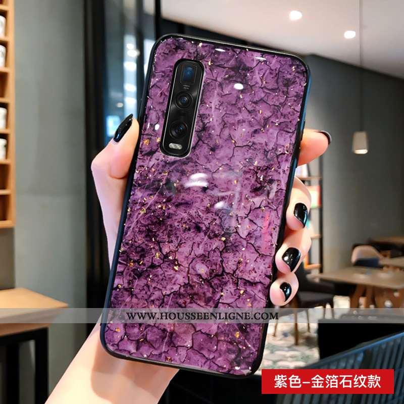 Étui Oppo Find X2 Pro Fluide Doux Silicone Mode Verre Protection Tendance Violet