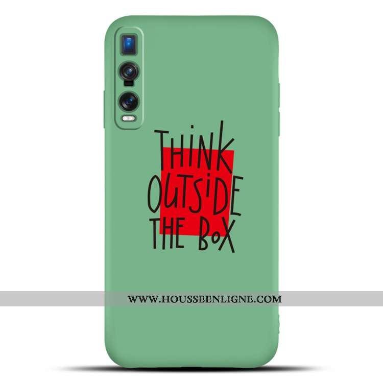 Étui Oppo Find X2 Pro Fluide Doux Silicone Téléphone Portable Membrane Vert Tempérer Verte