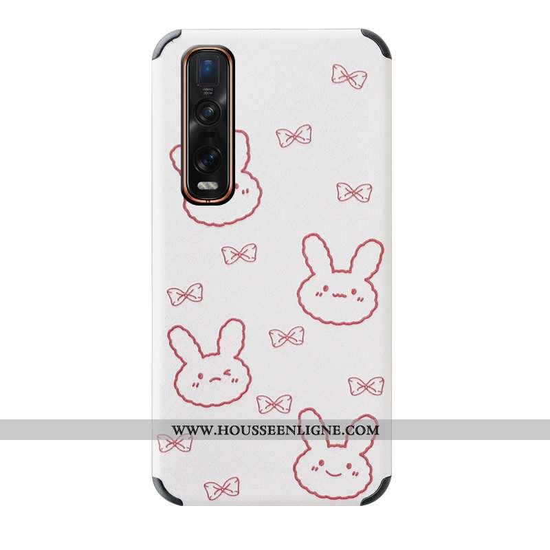 Étui Oppo Find X2 Pro Protection Dessin Animé Blanc Téléphone Portable Tout Compris Modèle Fleurie B