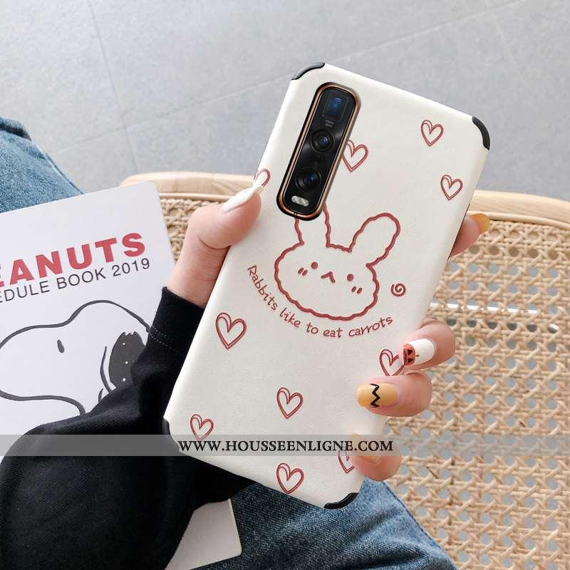 Étui Oppo Find X2 Pro Protection Personnalité Mode Tout Compris Amoureux Téléphone Portable Blanche