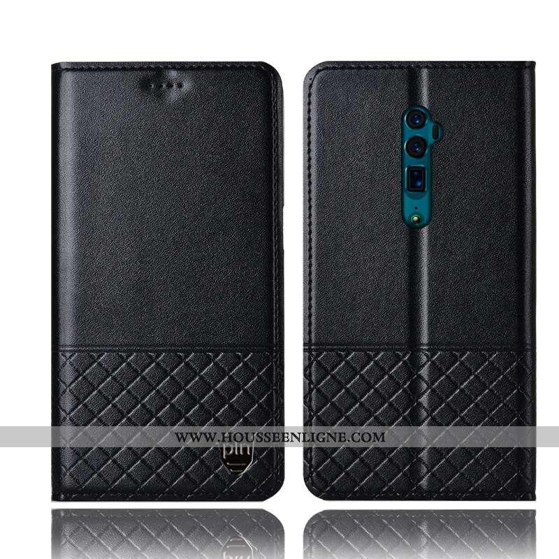 Étui Oppo Reno 10x Zoom Protection Cuir Véritable Coque Incassable Tout Compris Téléphone Portable N