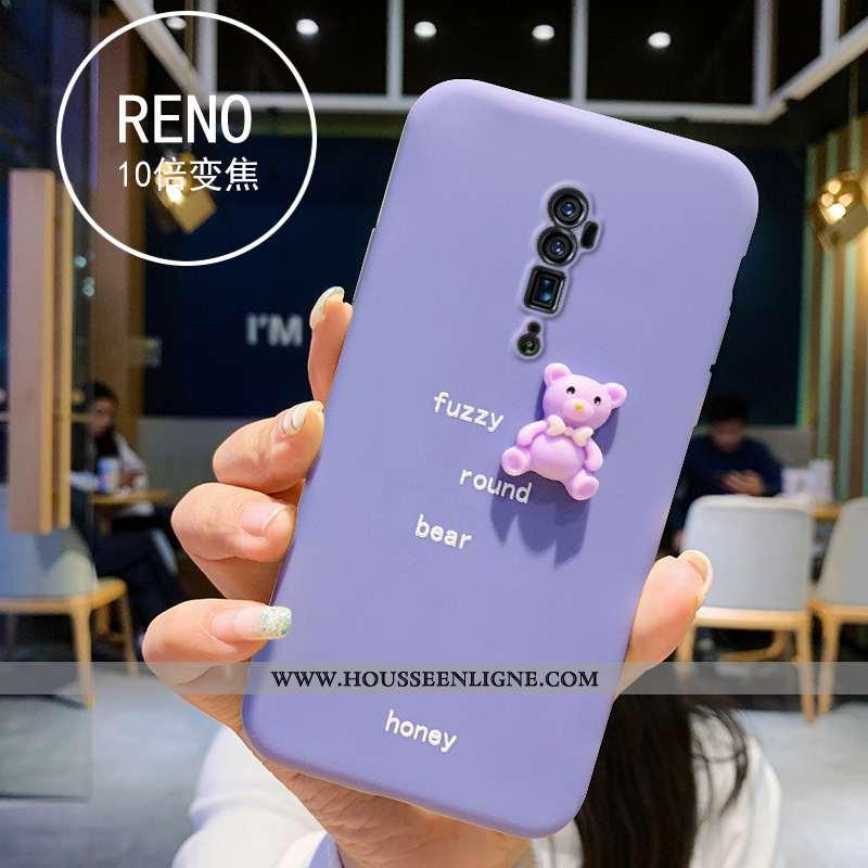 Étui Oppo Reno 10x Zoom Silicone Charmant Téléphone Portable Résine Violet Petit