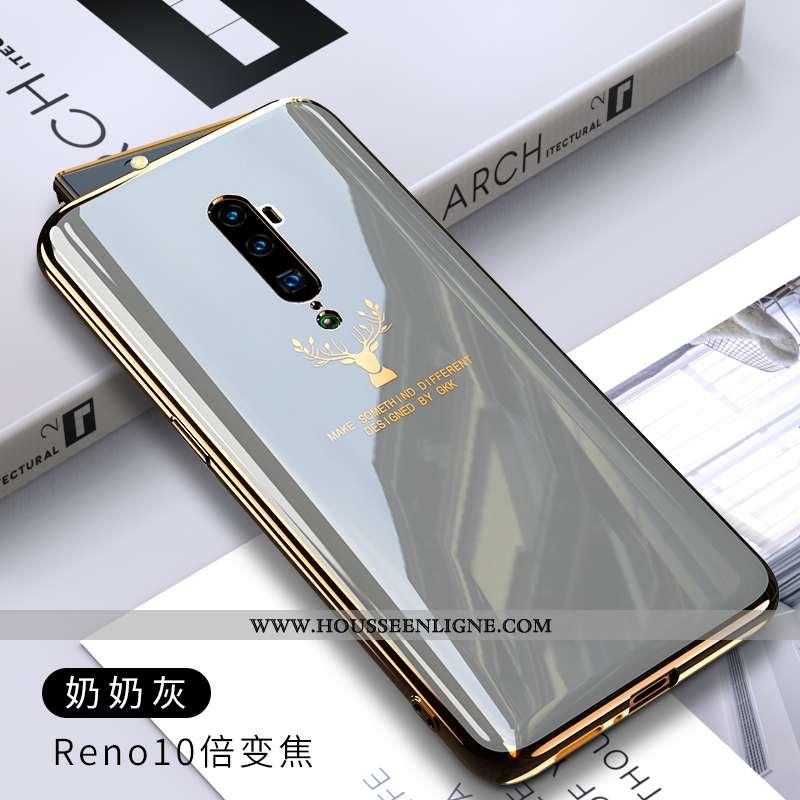 Étui Oppo Reno 10x Zoom Silicone Protection Coque Fluide Doux Téléphone Portable Couleur Gris