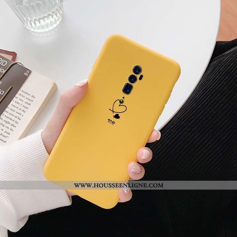 Étui Oppo Reno 10x Zoom Tendance Fluide Doux Téléphone Portable Jaune Amoureux Coque