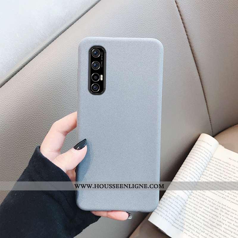 Étui Oppo Reno 3 Pro Protection Délavé En Daim Fluide Doux Coque Mode Gris