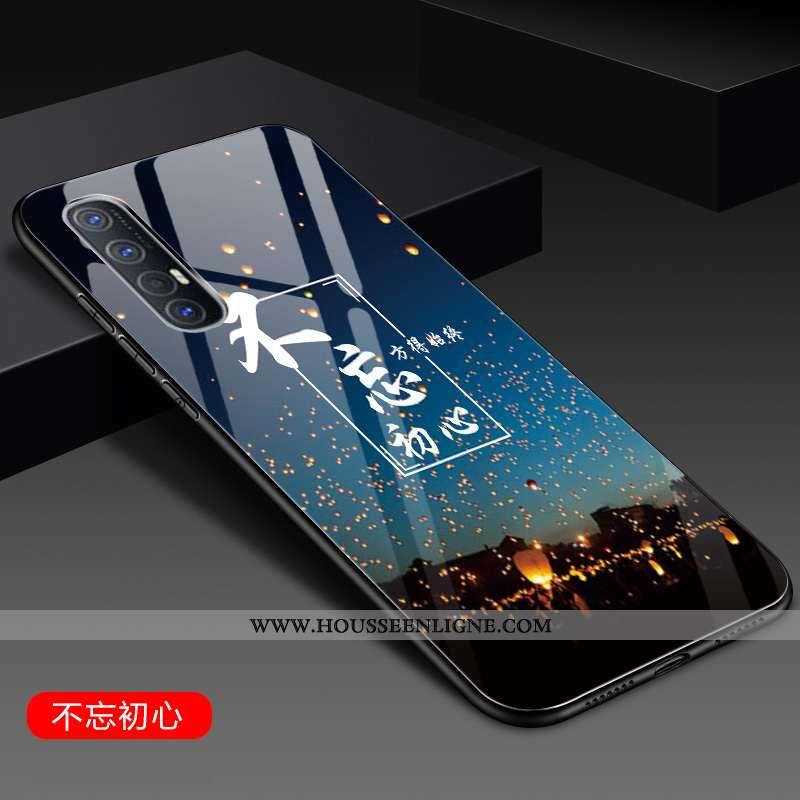 Étui Oppo Reno 3 Pro Silicone Protection Personnalité Bleu Tendance Net Rouge Incassable