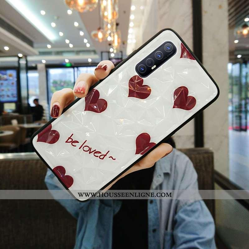 Étui Oppo Reno 3 Pro Ultra Légère Téléphone Portable Délavé En Daim Tout Compris Coque Rouge