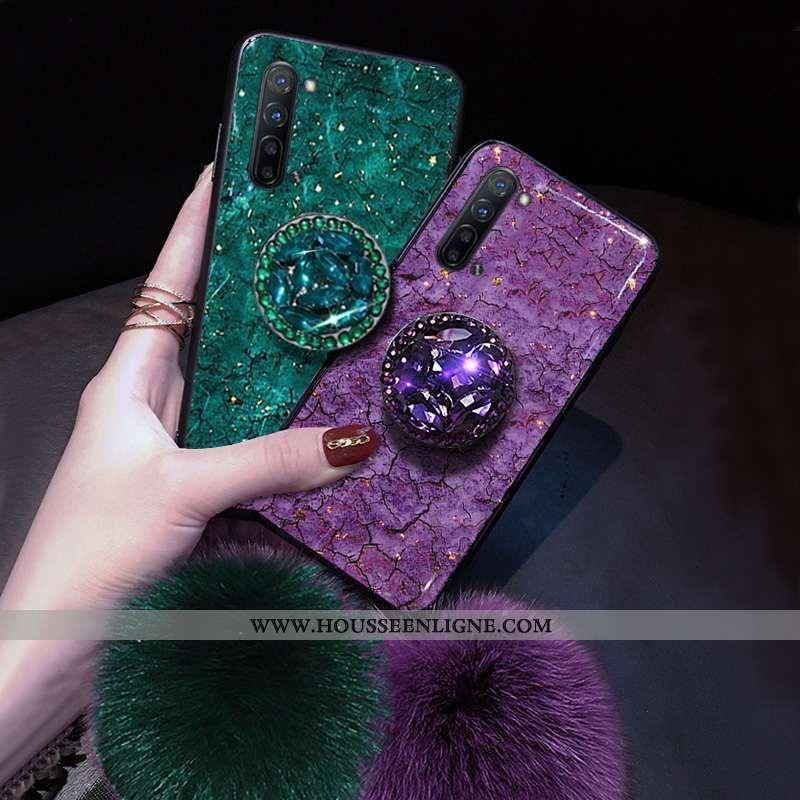 Étui Oppo Reno 3 Silicone Net Rouge Violet Coque Téléphone Portable