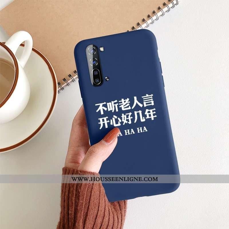 Étui Oppo Reno 3 Silicone Protection Téléphone Portable Créatif Incassable Bleu Net Rouge