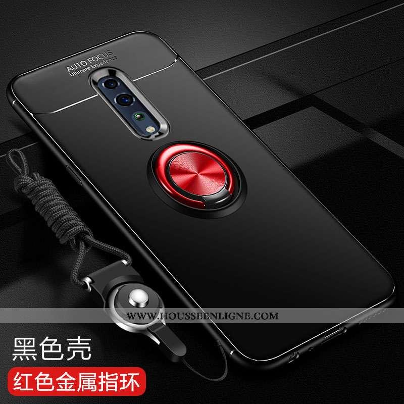 Étui Oppo Reno Z Tendance Fluide Doux Silicone Tout Compris Noir Téléphone Portable