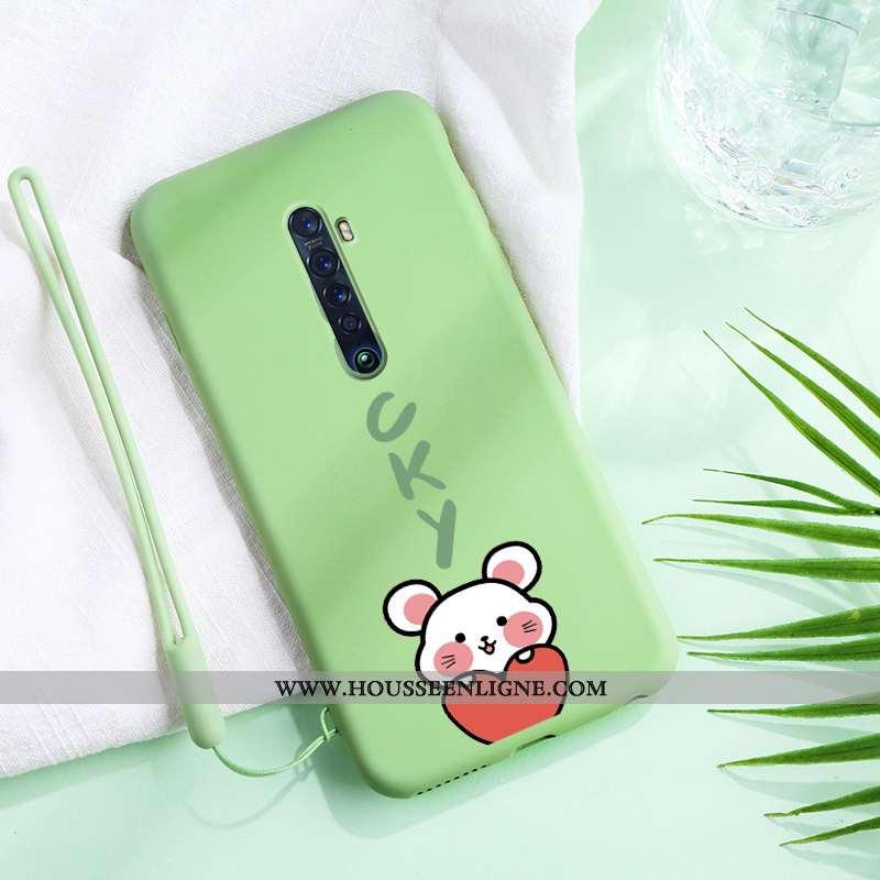 Étui Oppo Reno2 Mode Protection Personnalité Coque Amoureux Incassable Verte