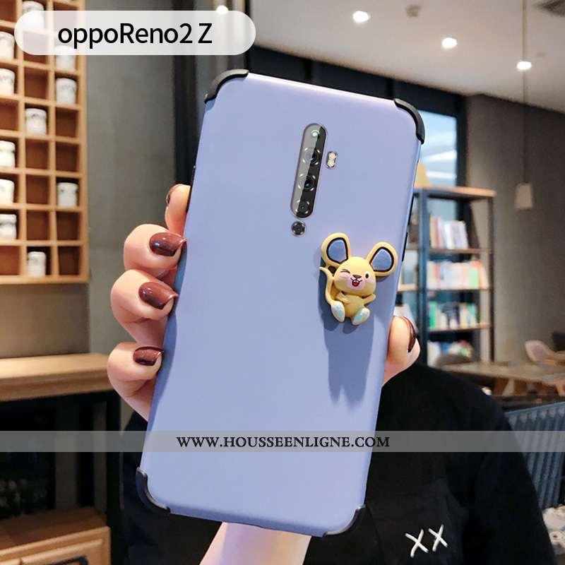 Étui Oppo Reno2 Z Charmant Ultra Silicone Coque Tendance Amoureux Téléphone Portable Bleu