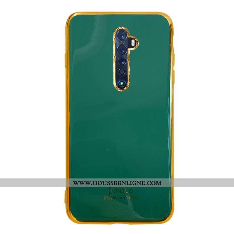 Étui Oppo Reno2 Z Fluide Doux Silicone Protection Incassable Net Rouge Vert Tout Compris Verte