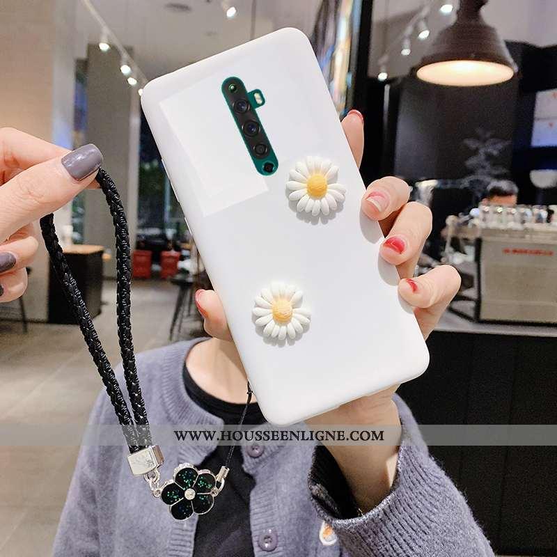 Étui Oppo Reno2 Z Légère Silicone Légères Téléphone Portable Amoureux Blanc Coque Blanche