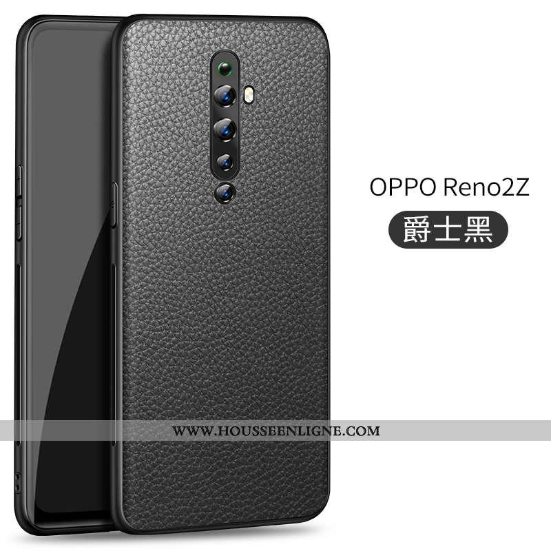 Étui Oppo Reno2 Z Modèle Fleurie Protection Litchi Coque Business Téléphone Portable Tout Compris No