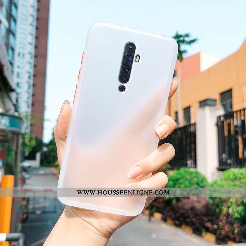 Étui Oppo Reno2 Z Protection Transparent Blanc Fluide Doux Téléphone Portable Tendance Délavé En Dai