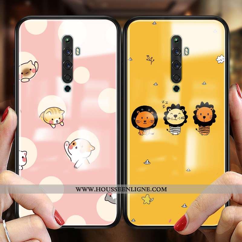Étui Oppo Reno2 Z Protection Verre Tendance Fluide Doux Téléphone Portable Coque Incassable Jaune