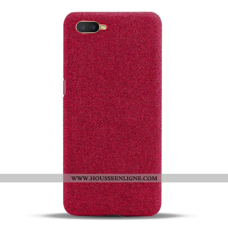 Étui Oppo Rx17 Neo Protection Tendance Rouge Téléphone Portable Incassable Tissu