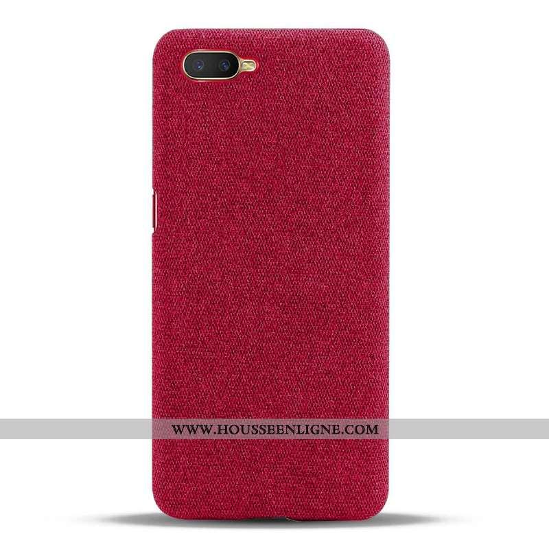 Étui Oppo Rx17 Neo Protection Vin Rouge Tissu Coque Téléphone Portable Difficile Bordeaux