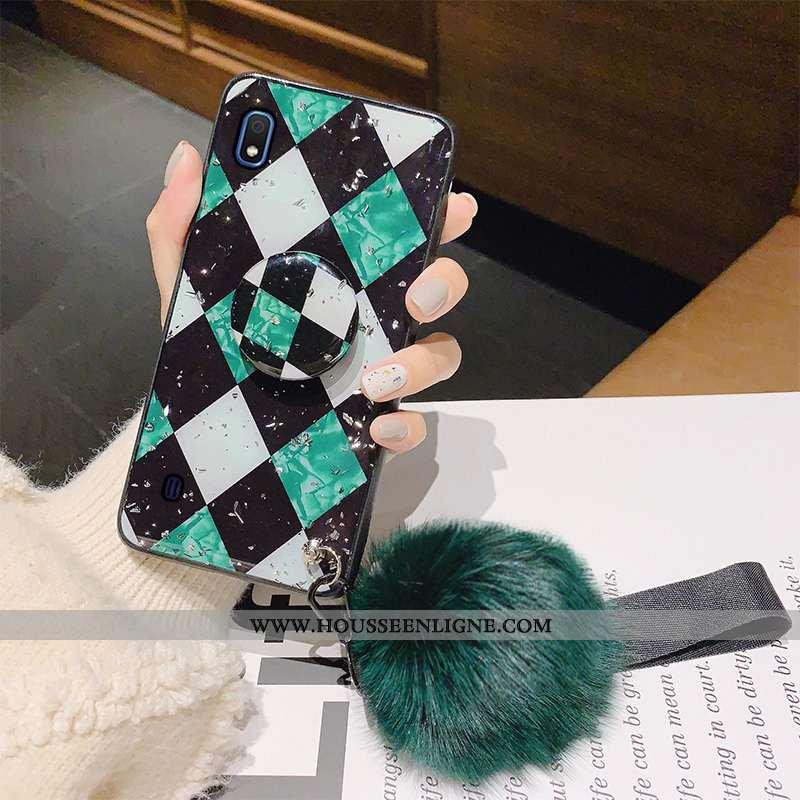 Étui Samsung Galaxy A10 Fluide Doux Silicone Protection Étoile Vert Nouveau Verte