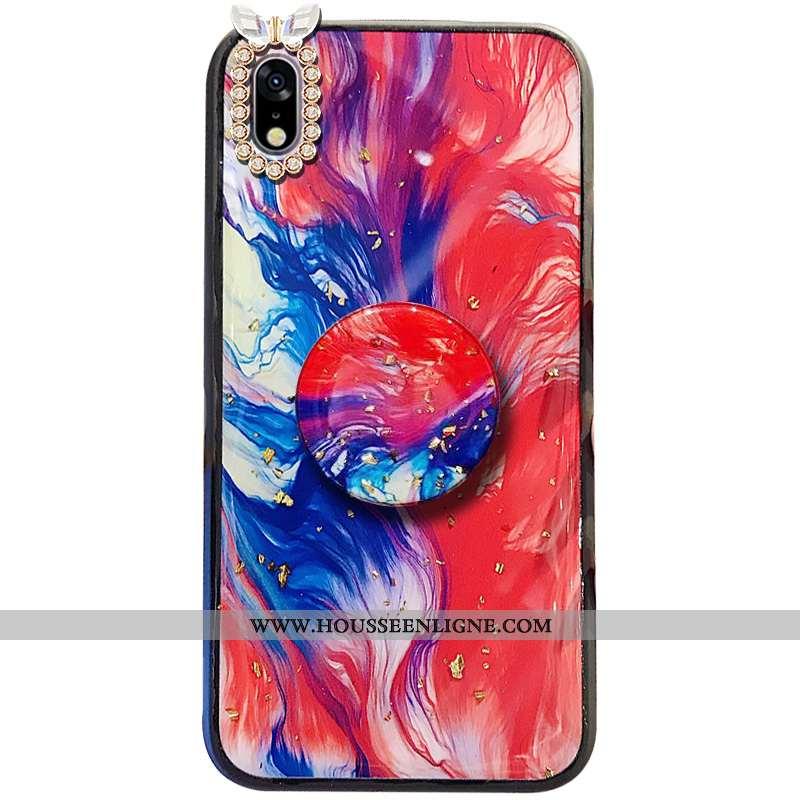 Étui Samsung Galaxy A10 Ornements Suspendus Tendance Incassable Étoile Pompon Rouge Téléphone Portab