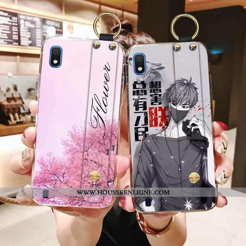 Étui Samsung Galaxy A10 Personnalité Créatif Incassable Téléphone Portable Tendance Protection Rose