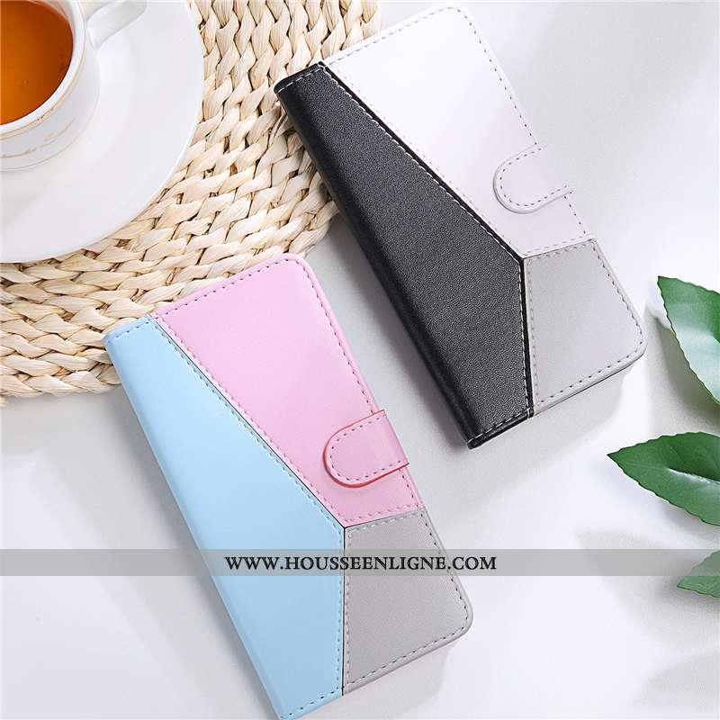 Étui Samsung Galaxy A10s Cuir Tendance Clamshell Téléphone Portable Étoile Rose
