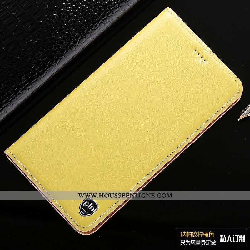 Étui Samsung Galaxy A10s Cuir Véritable Modèle Fleurie Coque Housse Incassable Étoile Jaune