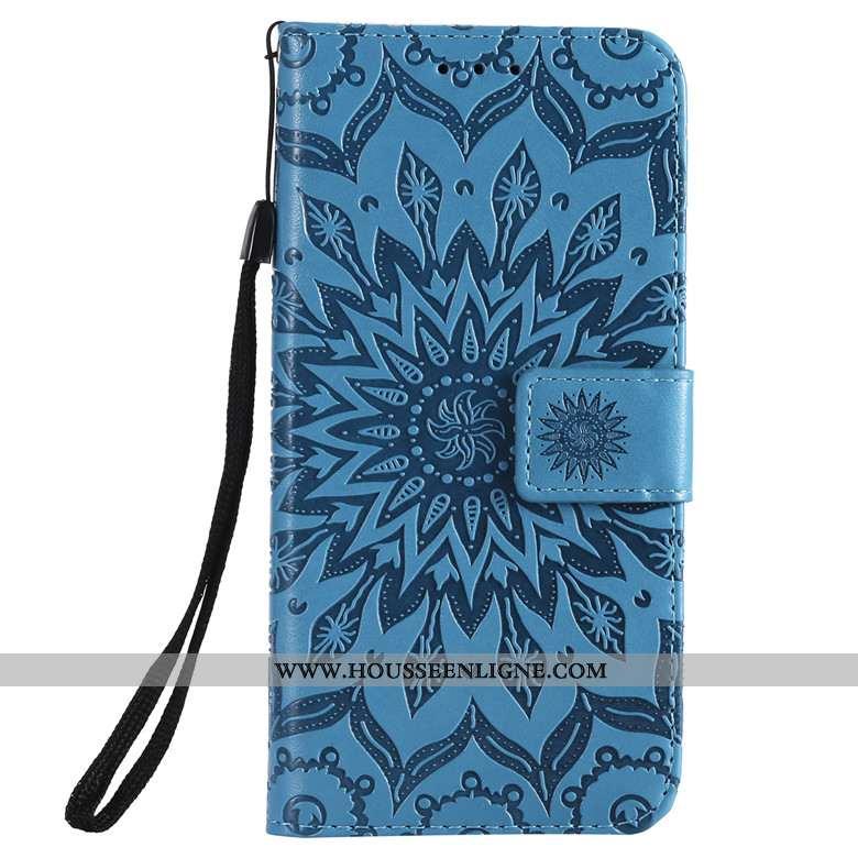 Étui Samsung Galaxy A10s Fluide Doux Protection Étoile Clamshell Tout Compris Coque Cuir Bleu