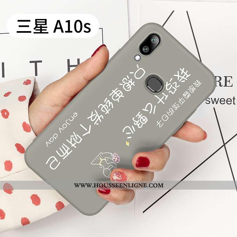 Étui Samsung Galaxy A10s Ornements Suspendus Personnalité Gris Tout Compris Protection Ultra Tendanc