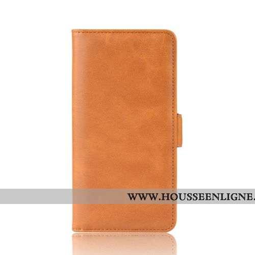 Étui Samsung Galaxy A20e Cuir Protection Une Agrafe Jaune Coque Carte Téléphone Portable