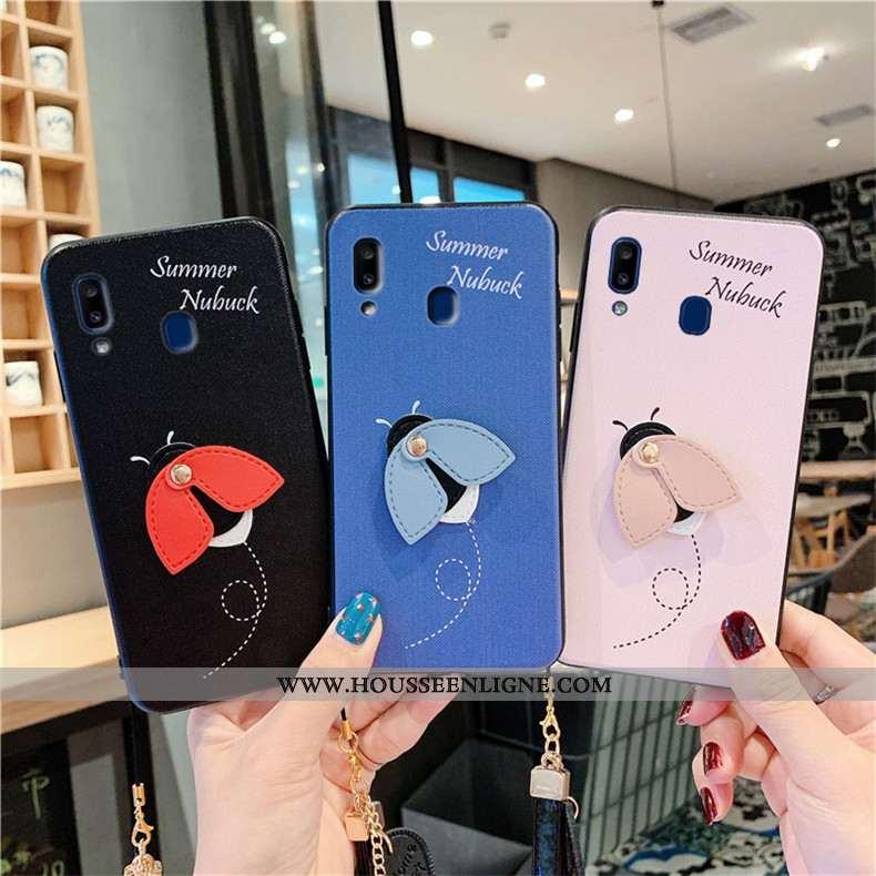 Étui Samsung Galaxy A20e Fluide Doux Silicone Étoile Coque Charmant Téléphone Portable Bleu