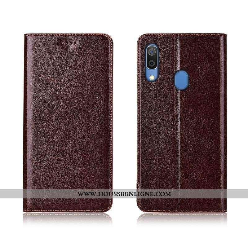 Étui Samsung Galaxy A20e Silicone Protection Cuir Véritable Téléphone Portable Incassable Étoile Mar