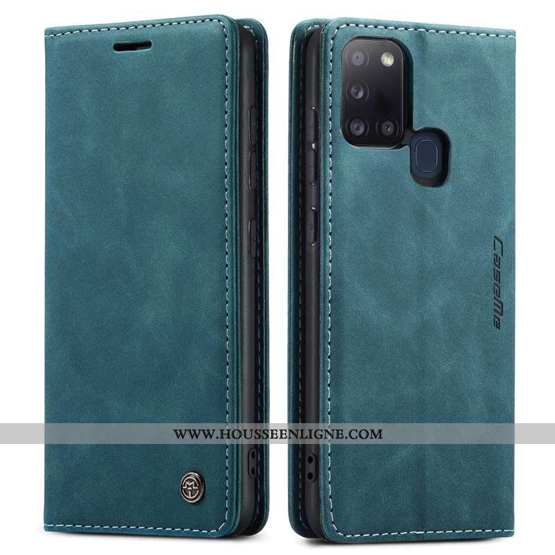 Étui Samsung Galaxy A21s Cuir Silicone Étoile Tout Compris Protection Véritable Coque Téléphone Port