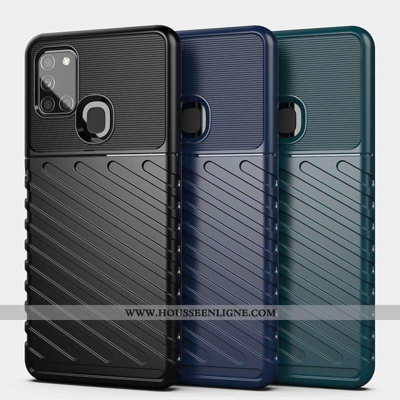 Étui Samsung Galaxy A21s Protection Incassable Téléphone Portable Noir Europe Étoile