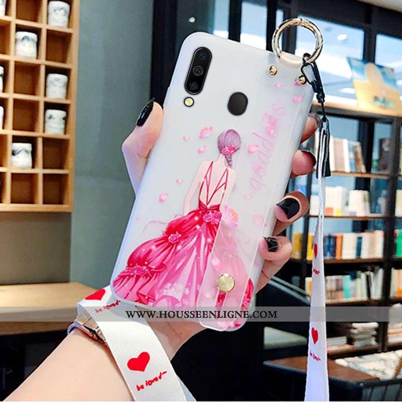 Étui Samsung Galaxy A40s Créatif Protection Téléphone Portable Nouveau Net Rouge Rose