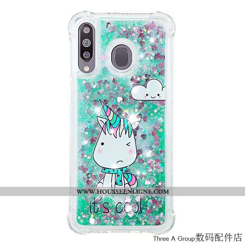 Étui Samsung Galaxy A40s Personnalité Créatif Téléphone Portable Incassable Silicone Vert Étoile Ver