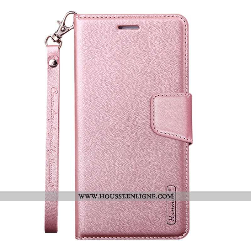 Étui Samsung Galaxy A40s Protection Cuir Housse Coque Étoile Rose