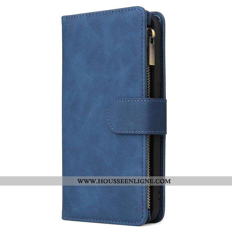 Étui Samsung Galaxy A41 Cuir Protection Incassable Bleu Housse Étoile