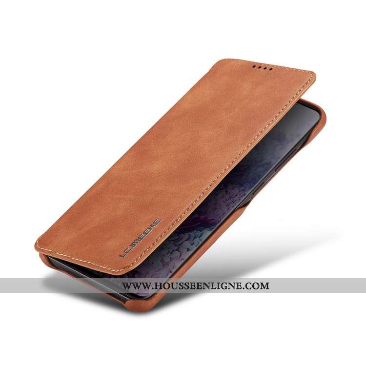 Étui Samsung Galaxy A41 Cuir Véritable Cuir Protection Magnétisme Coque Étoile Téléphone Portable Ma
