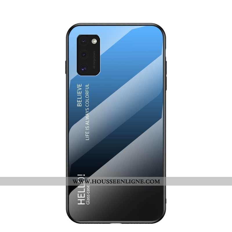 Étui Samsung Galaxy A41 Mode Protection Net Rouge Verre Étoile Bleu