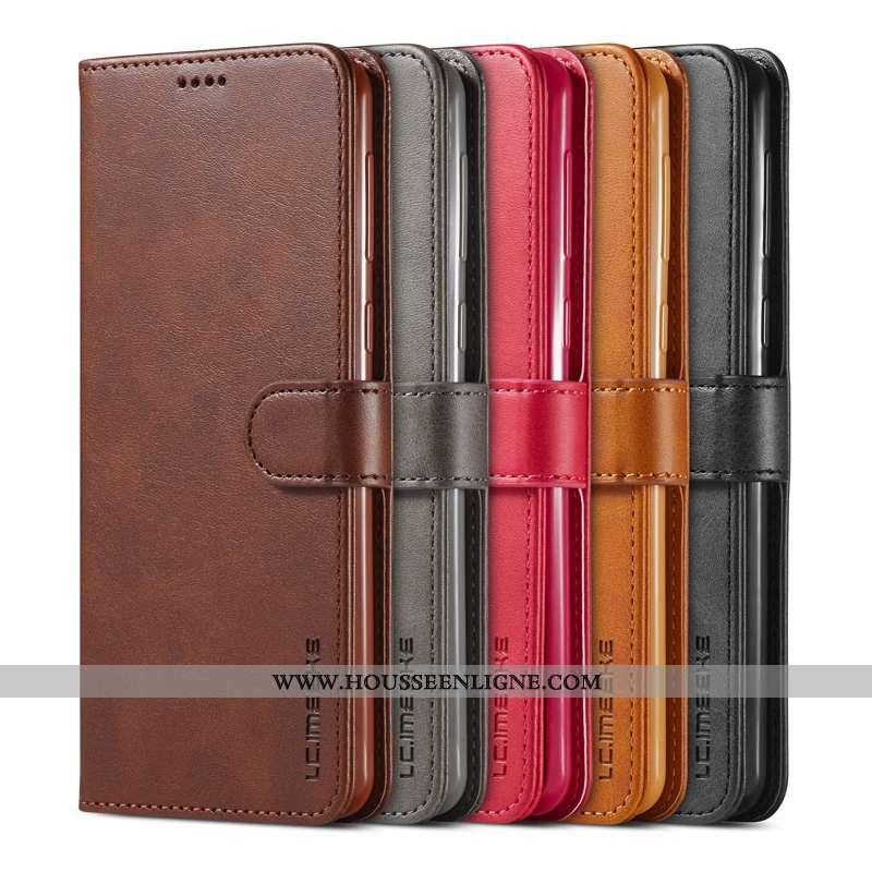 Étui Samsung Galaxy A41 Protection Cuir Fluide Doux Coque Tout Compris Téléphone Portable Marron